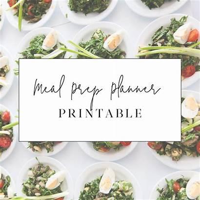 Meal Prep Planner Printable