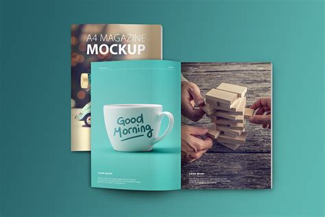 The best free psd magazine and book mockups we've found from the amazing sources. A4 Magazine Mockup Free PSD | Download Mockup