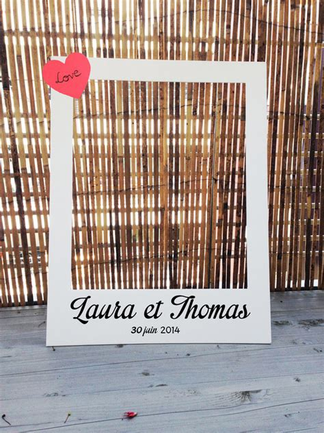 photobooth cadre polaro 239 d pour mariage grand format autres papeterie par crea graphic