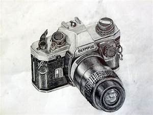 Camera pencil drawing by QuirkBiscuits on DeviantArt
