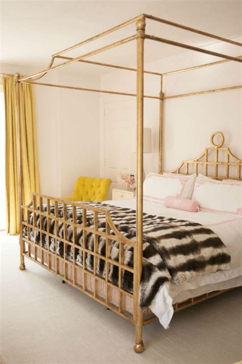 37037 gold canopy bed gold canopy bed contemporary bedroom cynthia