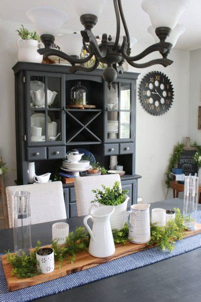 farmhouse style dining room clean  scentsible