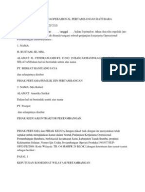 contoh kontrak bisnis internasional  guru paud