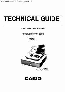 Casio 230er Technical Troubleshooting Guide Manual Pdf