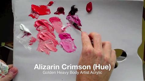 mix bright pink  acrylic paint colour mixing
