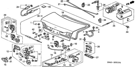 automobile air conditioning repair 2001 honda accord engine control trunk lid 2001 honda accord sedan parts ex 4 speed automatic genuine oem honda parts