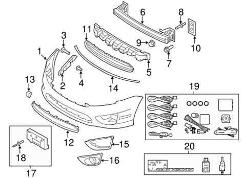 bumper components front   ford fusion silver