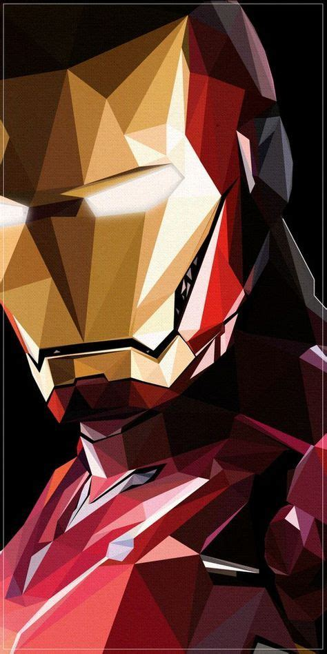 iron man illustration sick geometric design iron man