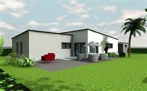 HD wallpapers maison contemporaine plein pied toit plat