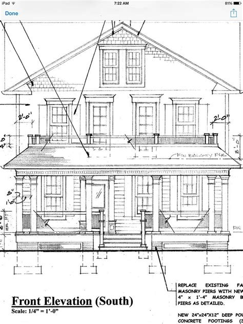 Architectural Drawing with Paint Color - OldHouseGuy Blog