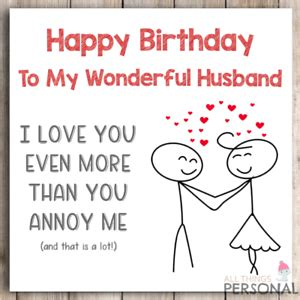 Check spelling or type a new query. Funny Birthday Card for Husband from Wife Joke Birthday Card Humour Banter Rude | eBay