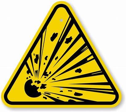 Explosive Symbol Warning Sign Iso Material Materials