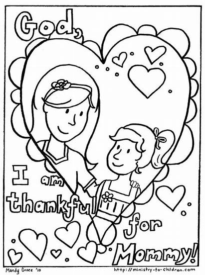 Coloring Mother Pages Mothers Children Daughter Easy