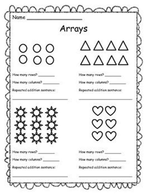 arrays worksheets year 1 free resource arrays worksheet students look at an array