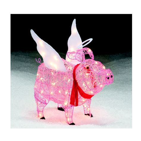 lighted pig lawn ornament christmas pig lawn figures spread smiles this with sears