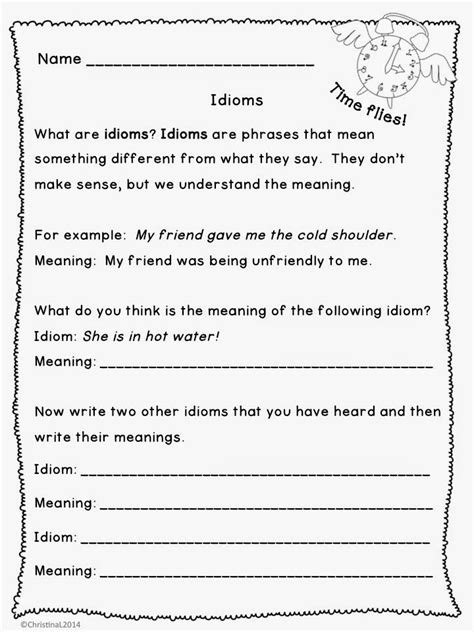 "The Best Of Teacher Entrepreneurs Language Arts  ""idioms Worksheets And Minibooklet"""