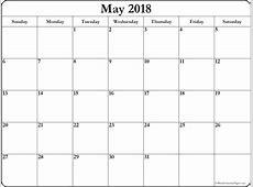 May 2018 Printable Calendar 8 + Free Blank Templates