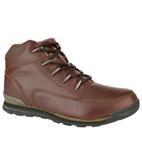 comfortable boots for walking mens boys casual hiking lace comfort walking work brown