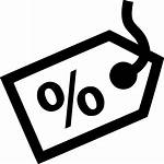 Tag Icon Clipart Percent Svg Halfway Clip