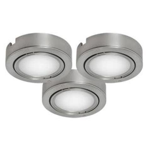 home depot under cabinet lighting bazz brushed chrome under cabinet puck lights 3 pack