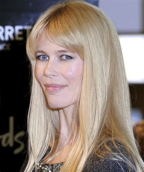 claudia schiffer long straight hairstyle