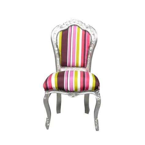 chaise multicolore chaise baroque multicolore meuble baroque