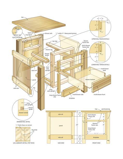 mission  table woodworking plans woodshop plans