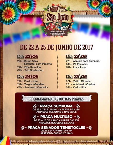 CONFIRMADO: Confira as atrações do São João 2017 de Cruz ...