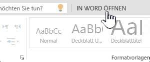 deckblatt word entfernen