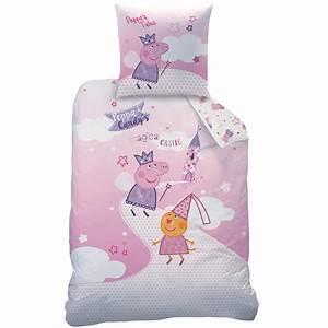 Peppa pig parure de lit housse de couette 140x200 for Stickers chambre enfant avec housse de couette peppa pig 140x200