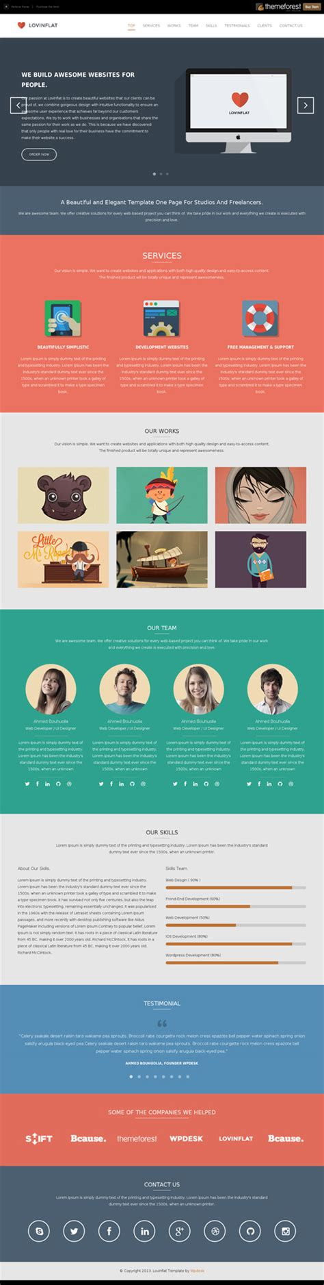 One Page Website Template Responsive One Page Templates Permium Collection