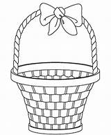 Basket Easter Coloring Empty Gift Drawing Picnic Template Egg Sketch Getdrawings Palm Coloringpagebook Advertisement sketch template