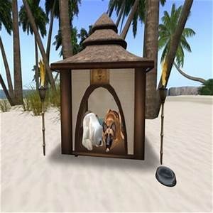 second life marketplace tiki dog house box With tiki dog house