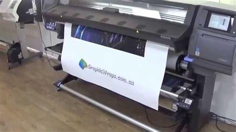 hp  latex printer quick demo    printer