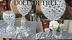 DIY DOLLAR TREE BLING CANDLE HOLDERS 2017 PETALISBLESS