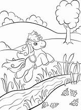 River Coloring Pages Cute Nile Little Printable Jumping Smiling Ballerina Pony Field Getdrawings Illustration Stream Dancing Vector Animals Wild Tiger sketch template