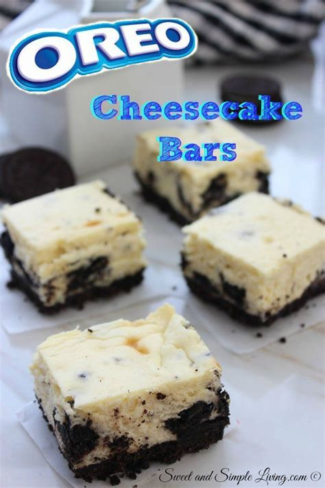 oreo cheesecake bars 7 ingredients for a quick dessert