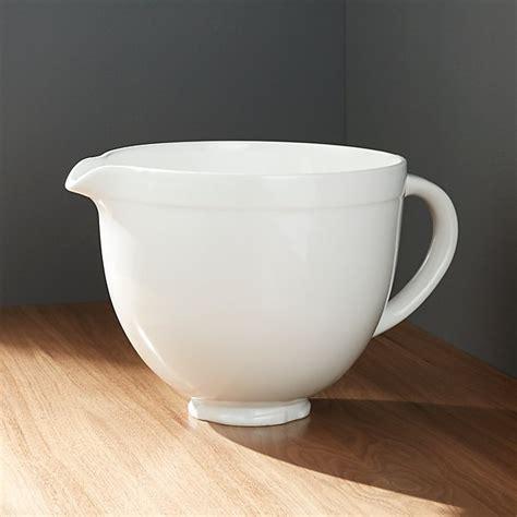bowl ceramic kitchenaid crate bowls mixing barrel crateandbarrel mixer kitchen pottery aid stand glass