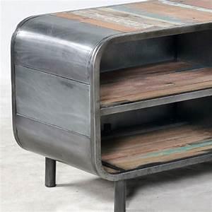 Meuble Industriel Vintage : meuble tv industriel vintage ~ Teatrodelosmanantiales.com Idées de Décoration