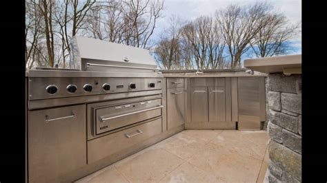 stainless steel doors  outdoor kitchen youtube