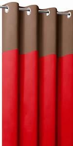 Rideaux Occultants Sur Mesure : rideaux occultants bicolores t te chocolat ~ Dailycaller-alerts.com Idées de Décoration