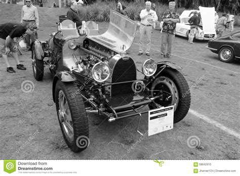 Vintage Bugatti Race Car Editorial Image. Image Of Event