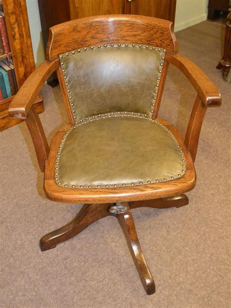 oak swivel and tilt desk chair c1900 antiques atlas