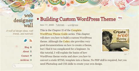 wordpress theme development tutorials  design work