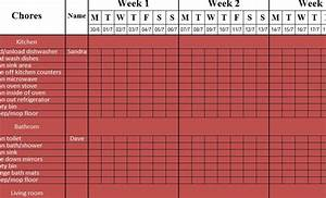 Macro Planner Weekly Cleaning Sheet My Excel Templates