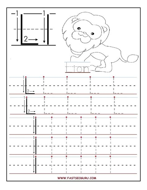 printable letter l tracing worksheets for preschool 368 | 616b2f9e56f62a73992bdf36d75297f8