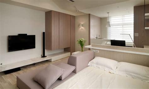 small living streamlined studio apartment