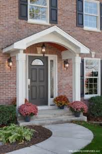 portico front of house authentic colonial transformation traditional exterior