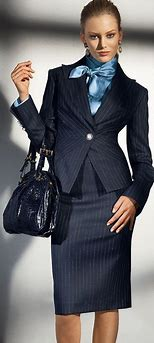 Image result for woman in business suit blue
