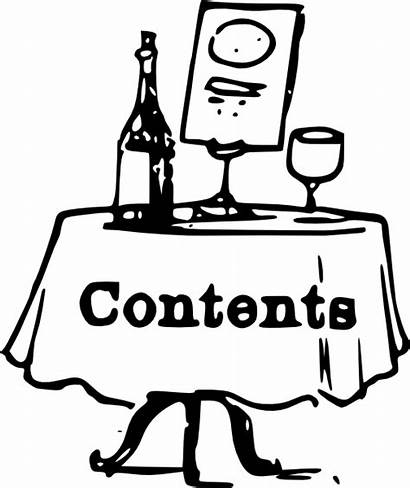 Table Contents Clip Tom Clipart Clker
